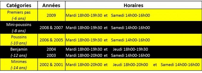 horaires edr