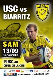 Affiche USC - Biarritz