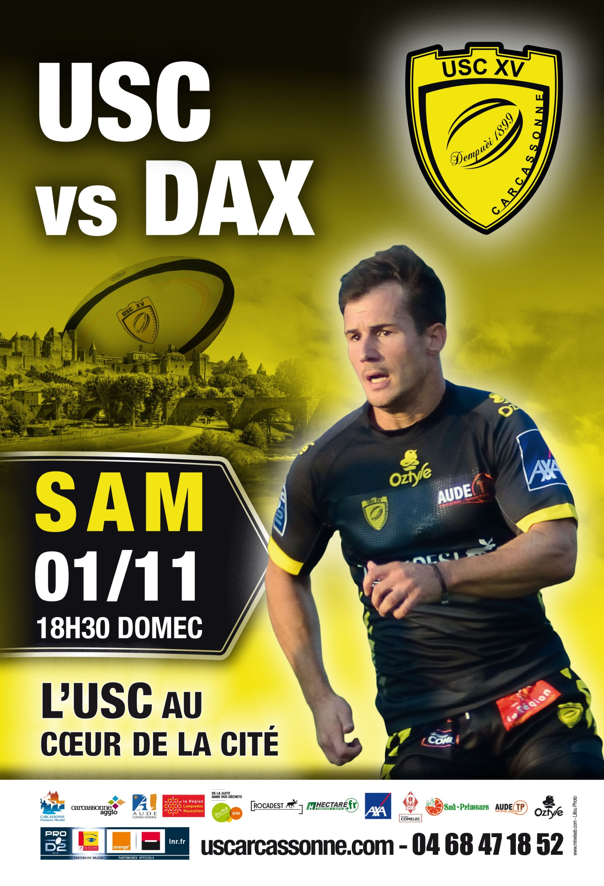 Affiche USC - DAX