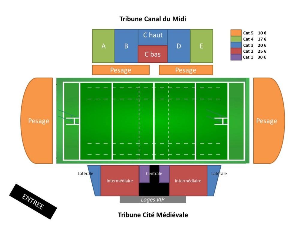 Stade Domec 2013 - 2014 tarif match