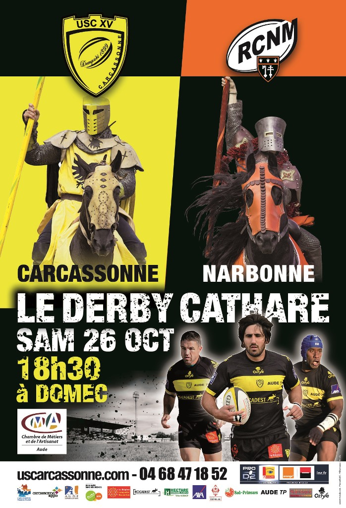 Affiche USC NARBONNE 26 OCT 2013