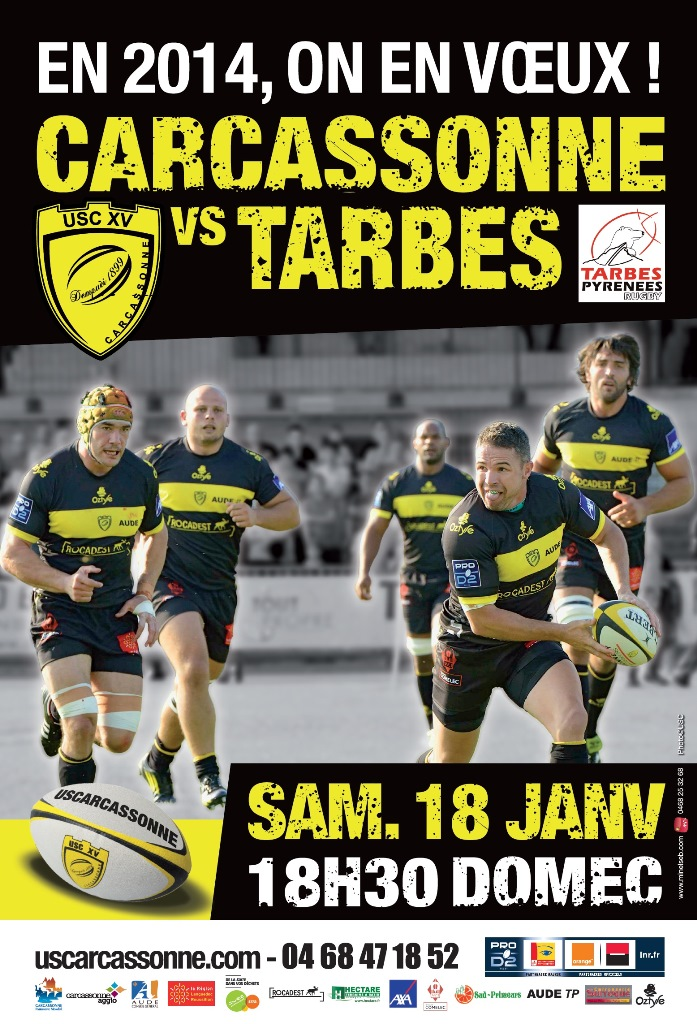 Carcassonne - Tarbes  Affiche-Tarbes