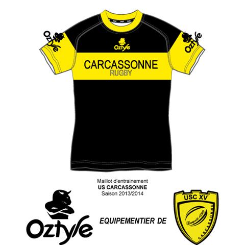 oztyle - maillot entraînement usc saison 2013 - 2014