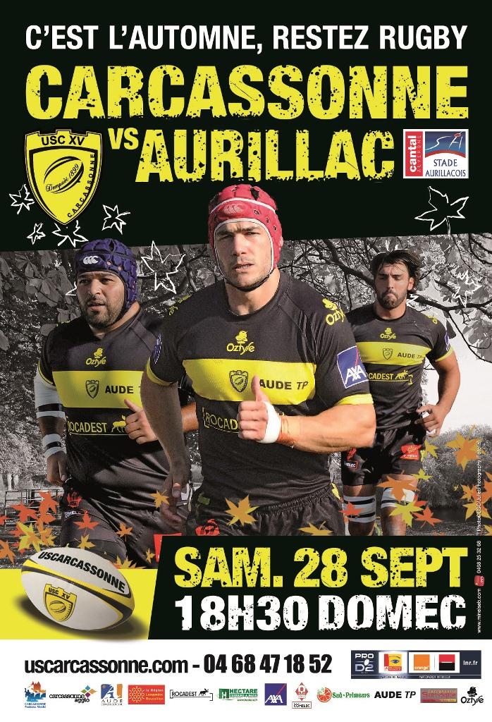 affiche USC Aurillac