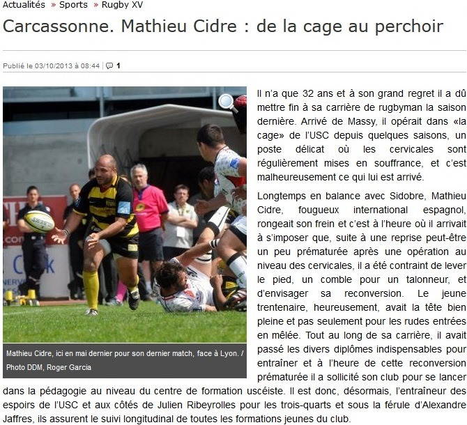 mathieu cidre USC article depeche