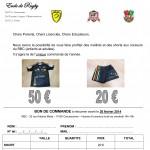 Commande maillots et shorts RBC 2014
