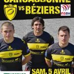 Affiche USC - Béziers