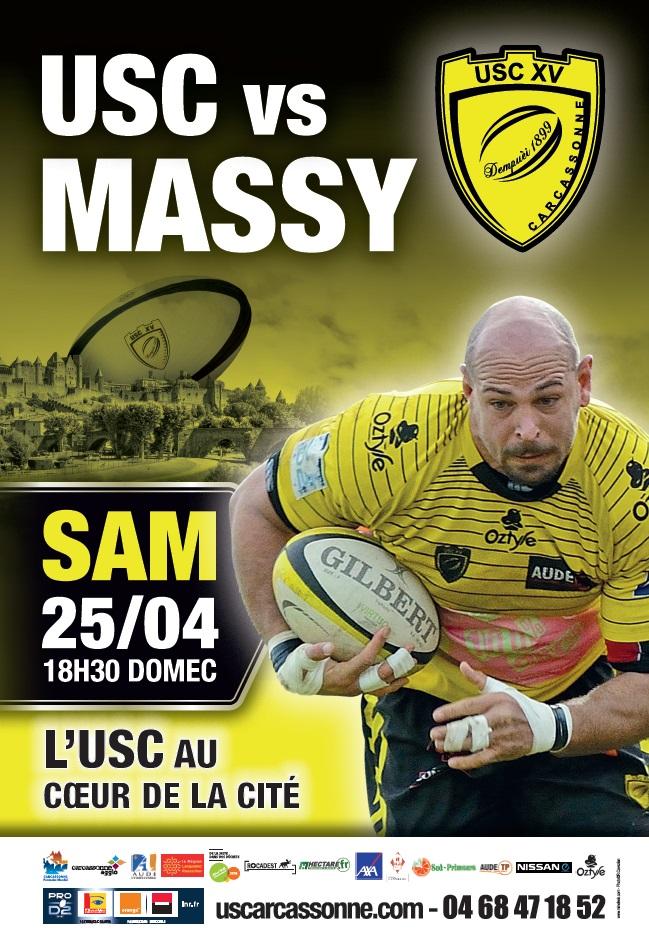 Affiche USC Massy 2015
