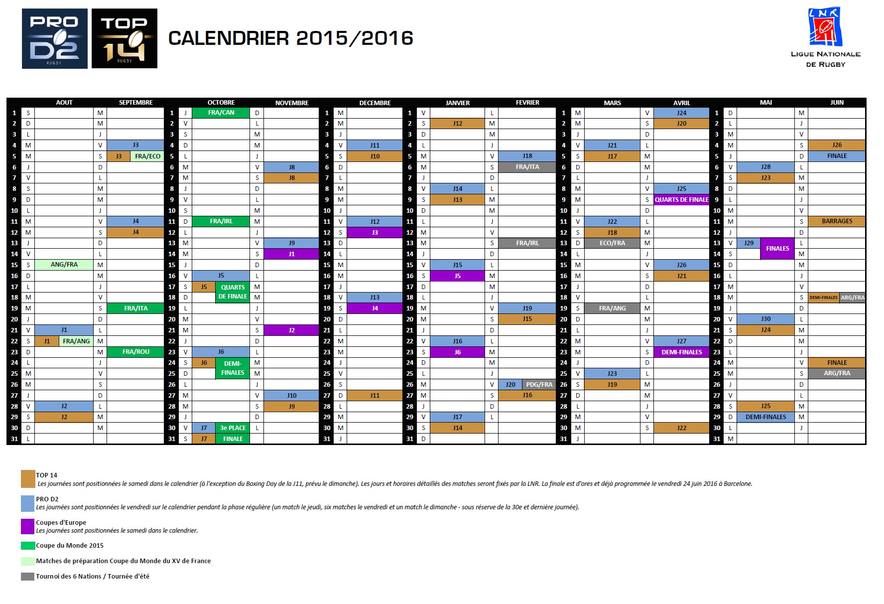 calendrier saison 2015 2016 us carcassonne. Black Bedroom Furniture Sets. Home Design Ideas