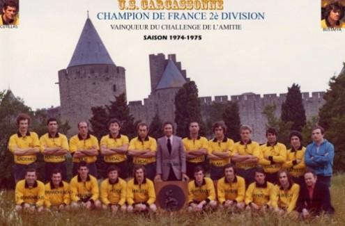 USC Champion de France deuxième division 1975