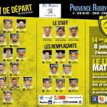 La Compo de l'USC face au Provence Rugby