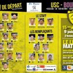 La Compo de l'USC face à Bourgoin - Copie
