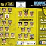 La Compo de l'USC pour Bayonne