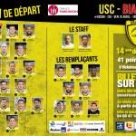 La compo de l'USC face à Biarritz