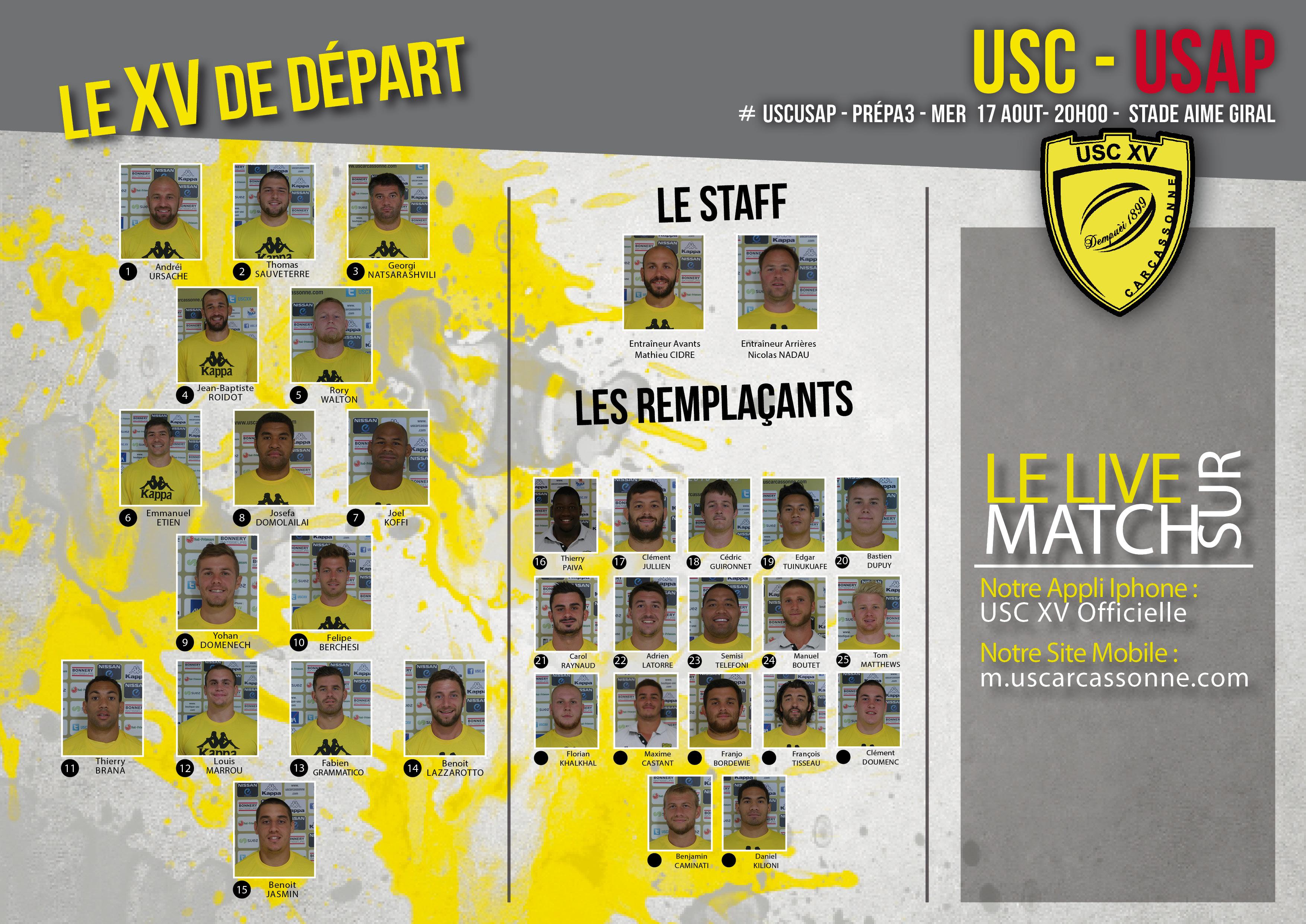 La Compo de l'USC face l'USAP