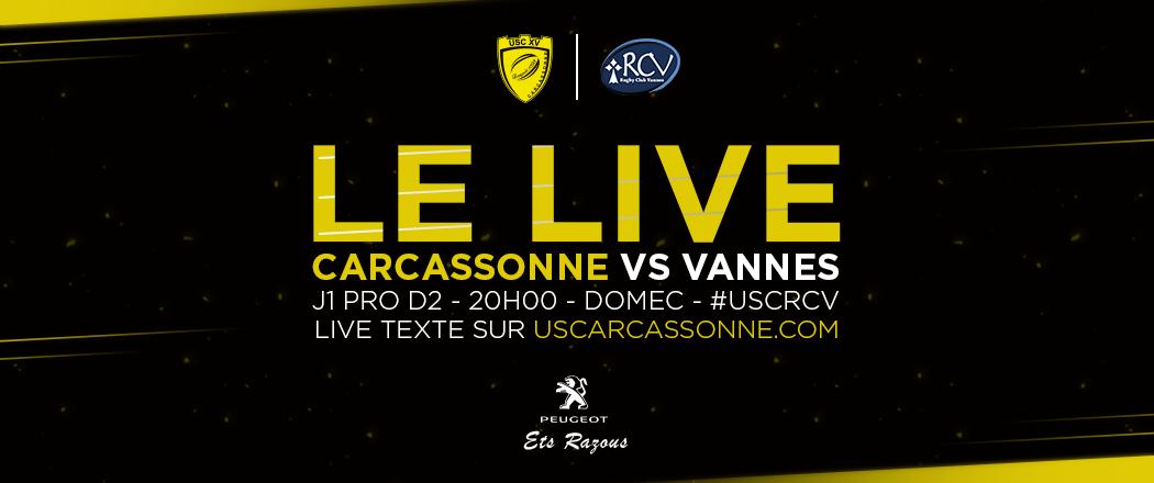 Annonce live texte USC-RCV