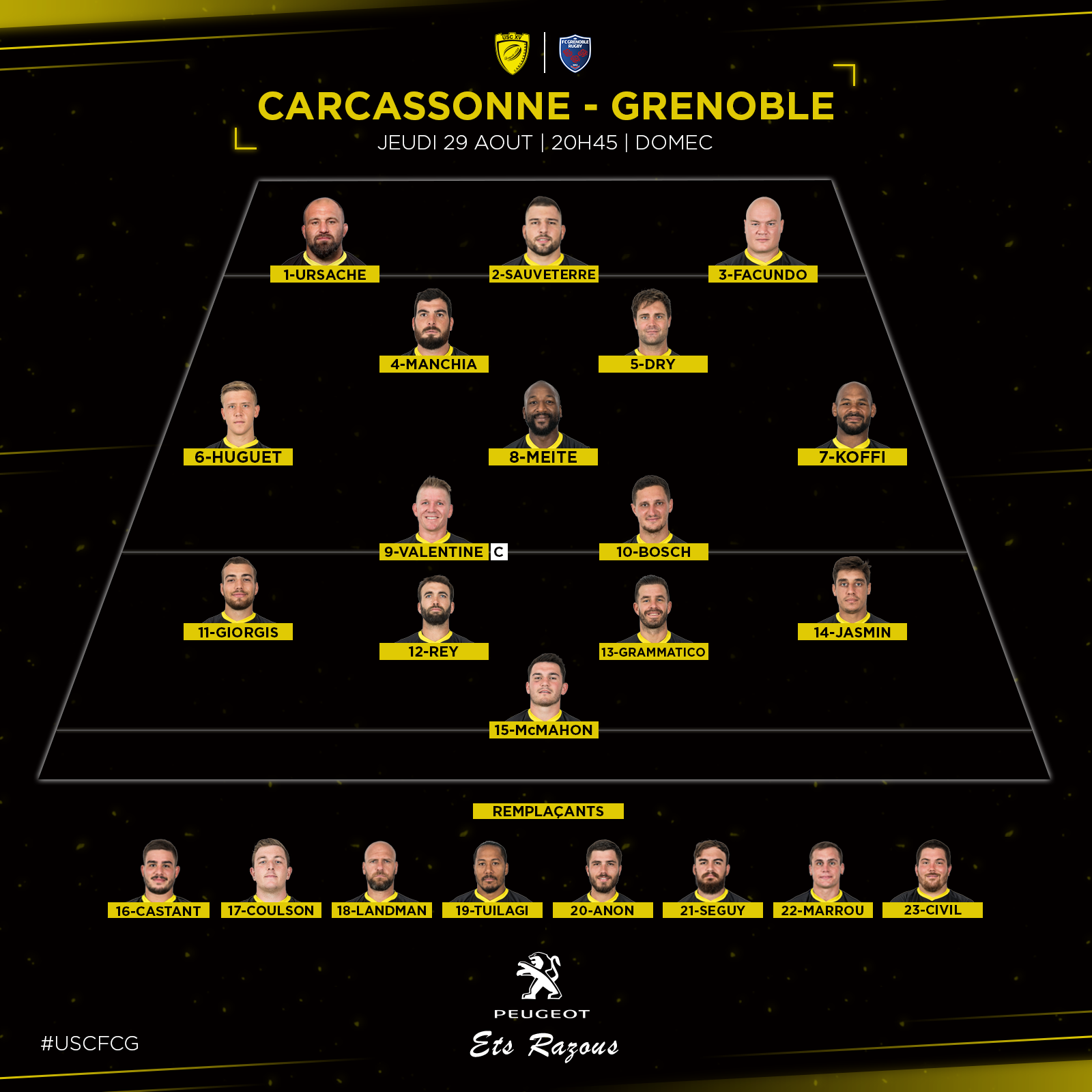 Compo Carcassonne - Grenoble