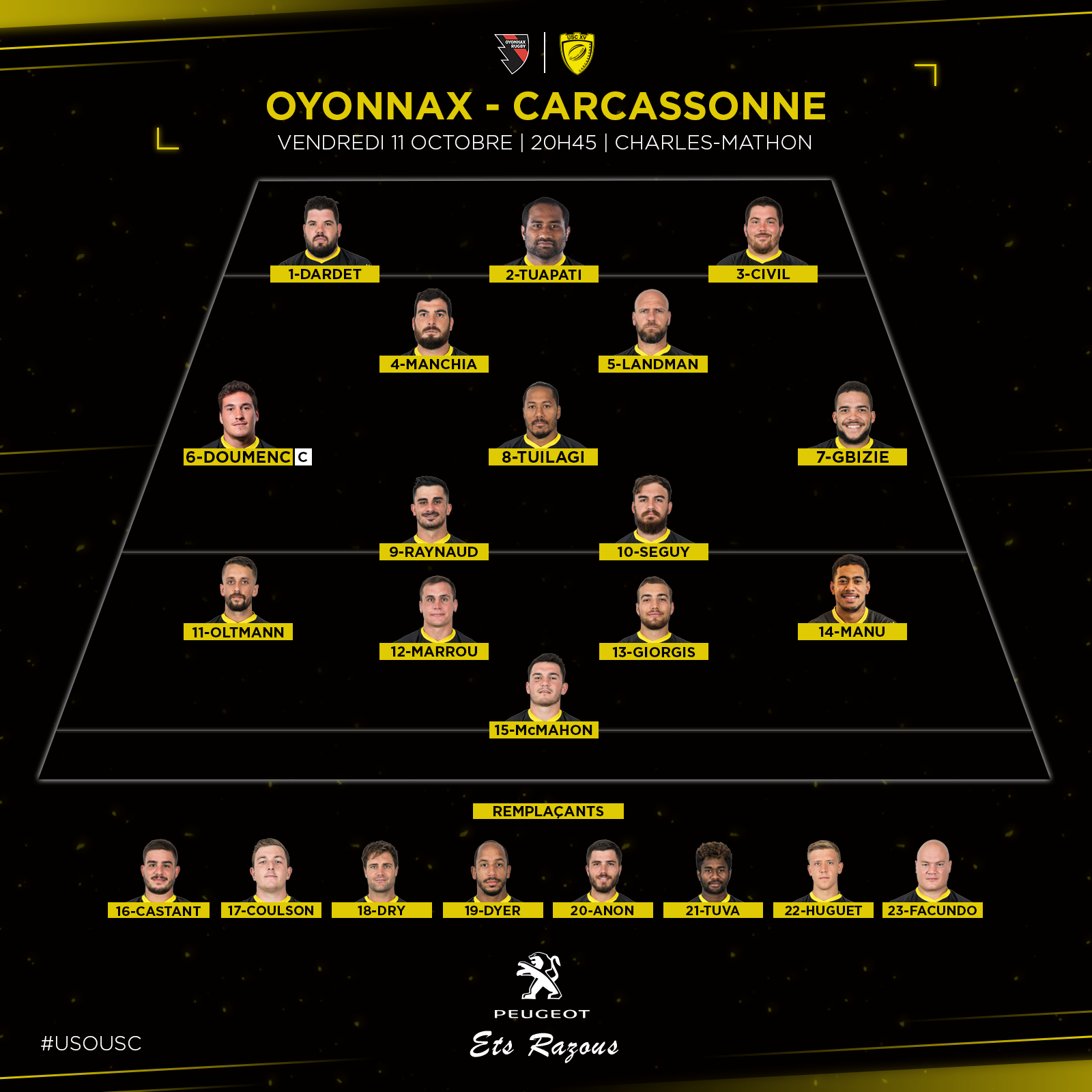 Composition Oyonnax